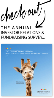 The Annual Investor Relations & Fundraising Survey...